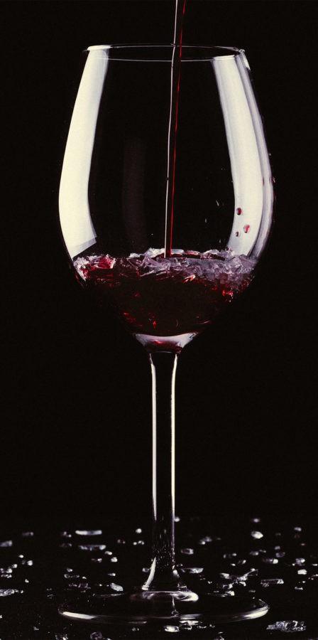 Coupe de vin rouge